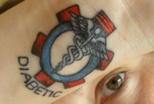 Medical tattoo - Diabetic