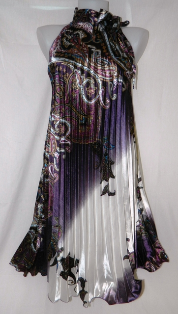 Mizumi Pleated Purple Dress